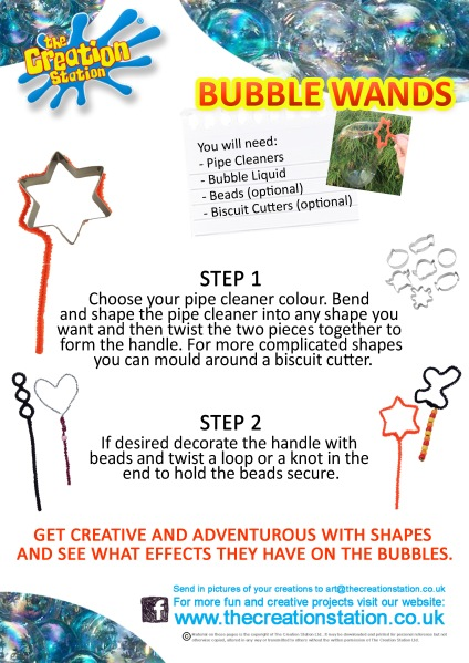 create and make bubbles