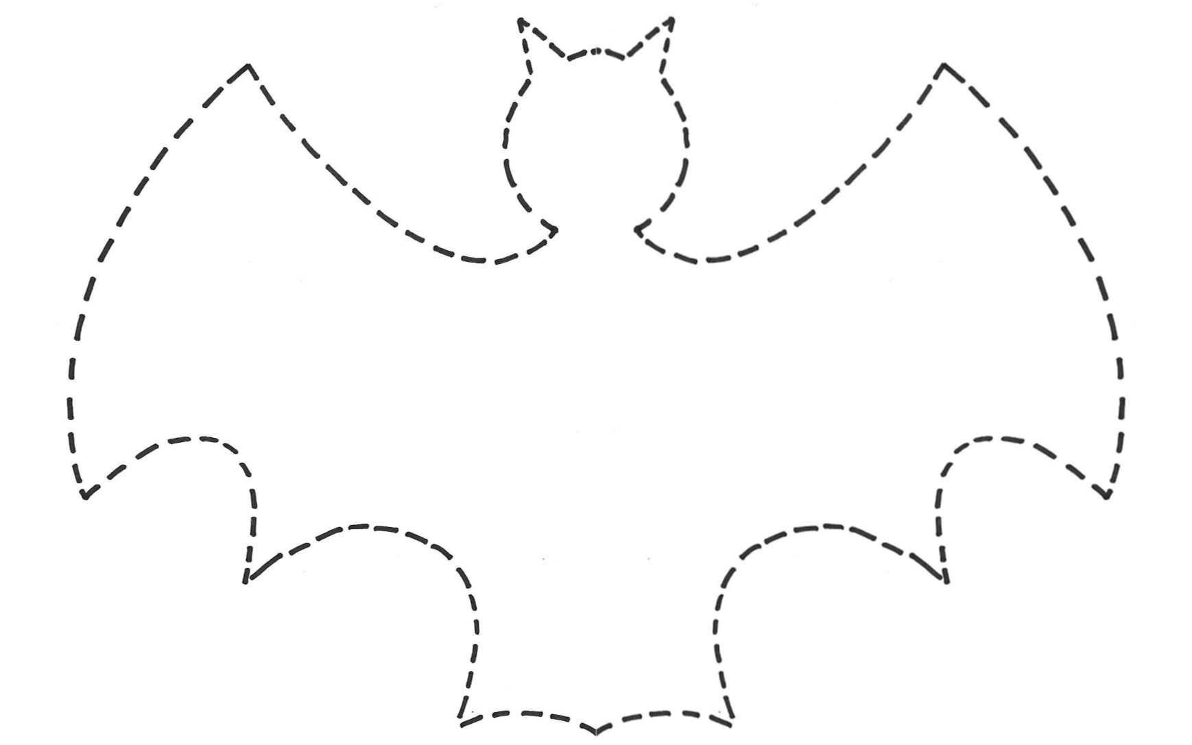 bat template 2 - Halloween Bat Decorations