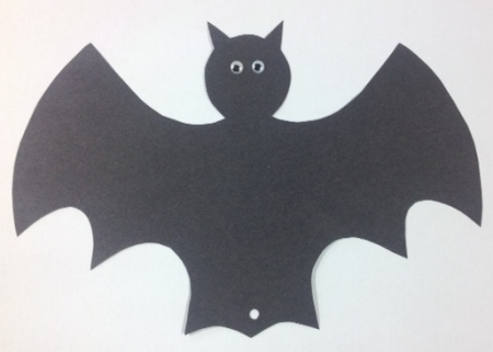 bat with eyes and hole
