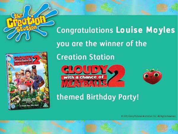 Cloudy Meatballs WINNER