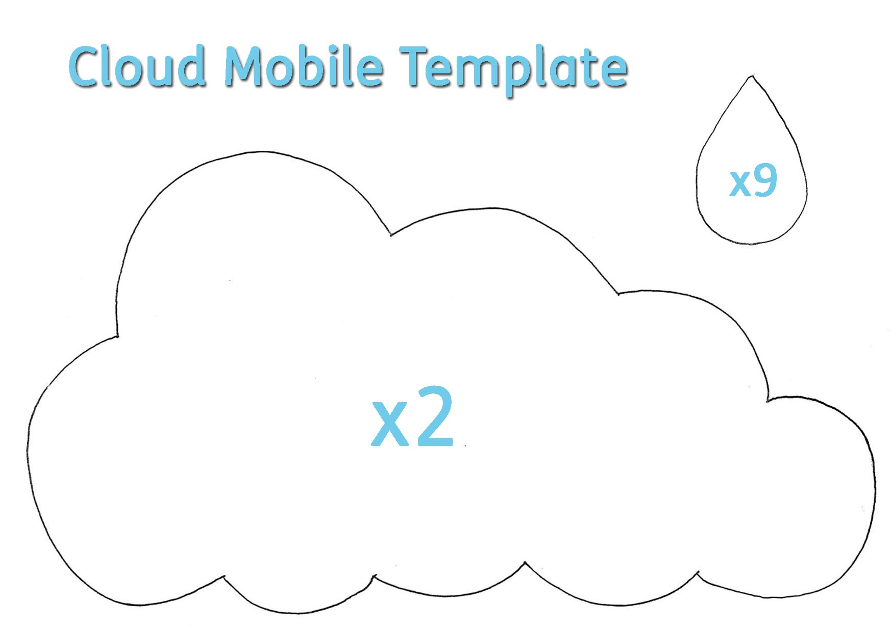 Rain Cloud Template Cloud template sfLSuBPg