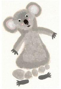 footprint koala