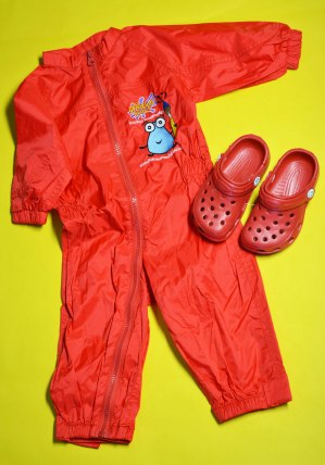 Splashsuit and shoes