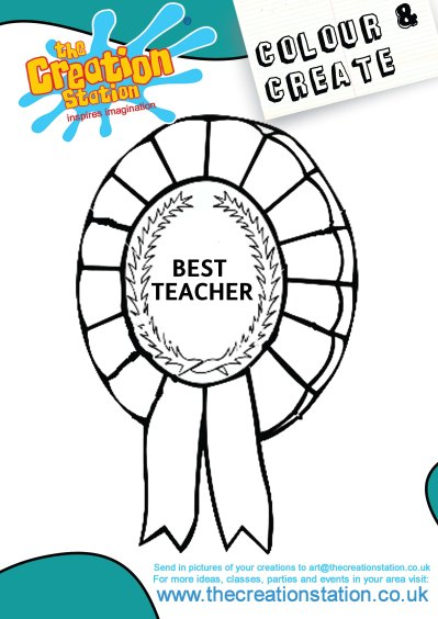 Best Teacher Rosette