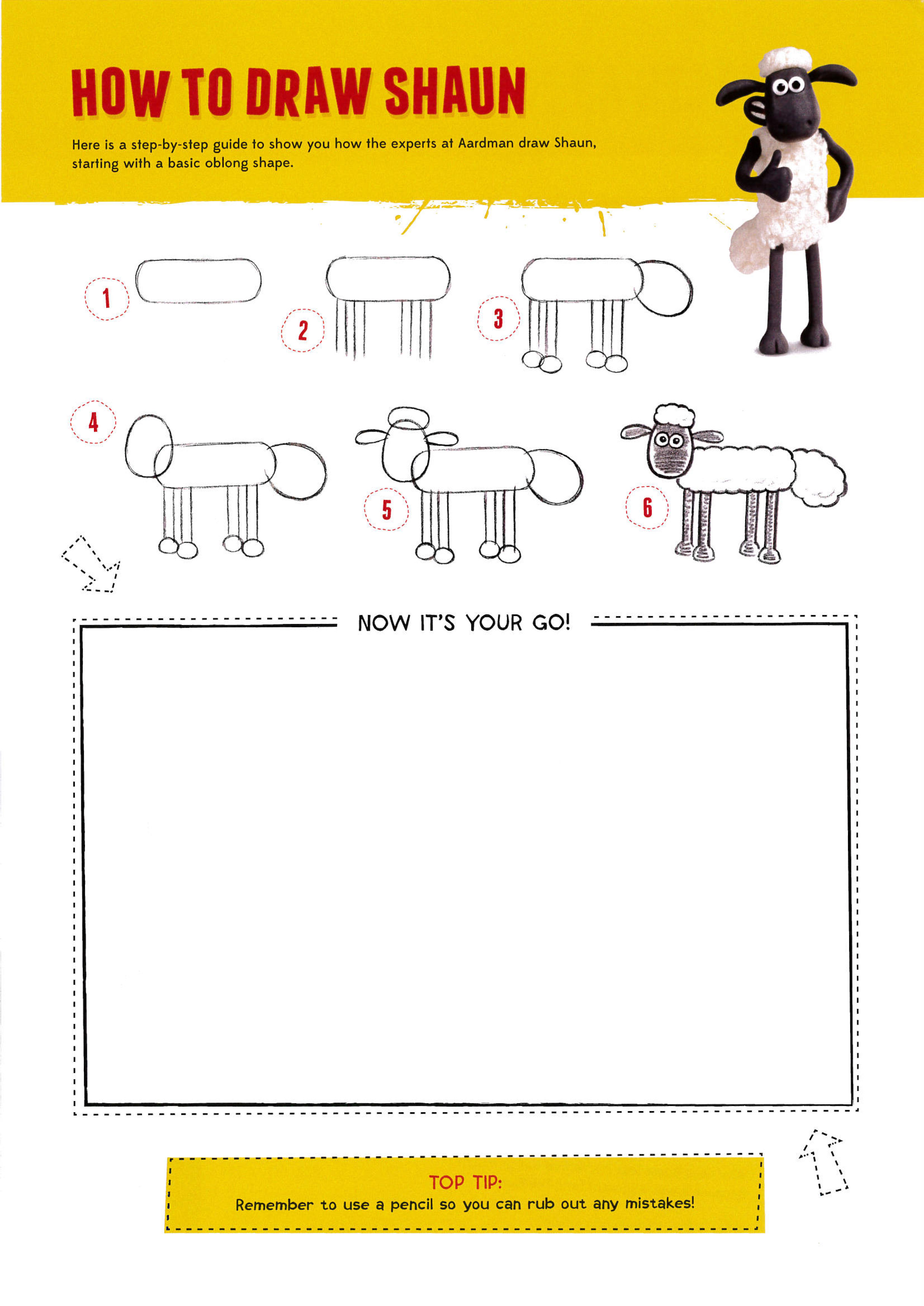 Want to draw Shaun the Sheep? - The Creation Station